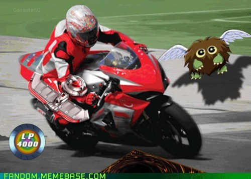 Memes Yu Gi Oh card games on motorcycles - 6758062080