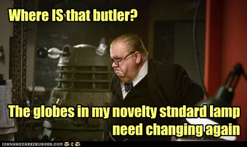 Where IS that butler? The globes in my novelty stndard lamp need changing again