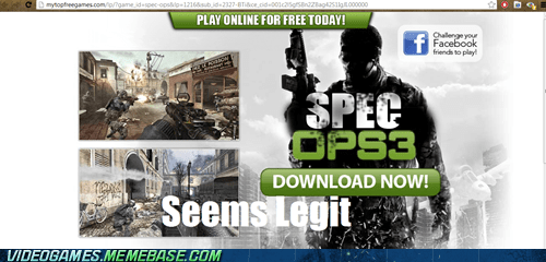 free games,call of duty,specops 3,modern warfare,seems legit