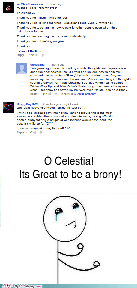 thank you comments Bronies awesome - 6758342656