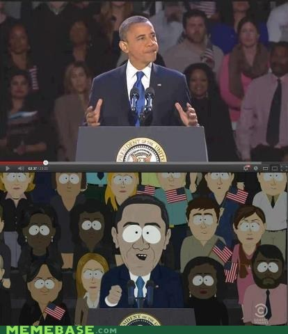 everyones-a-critic,obama,South Park,flaghead,election