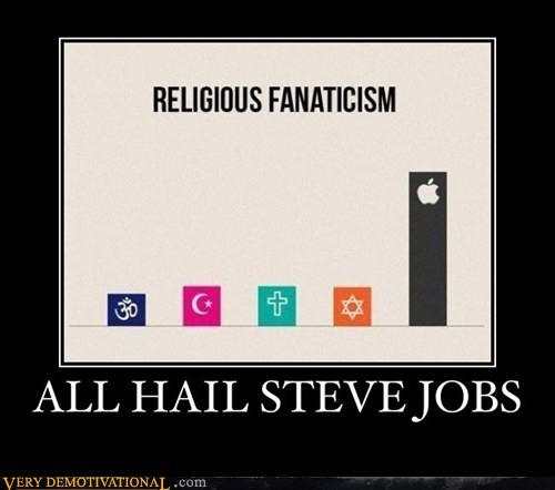 religion,steve jobs,fanatic