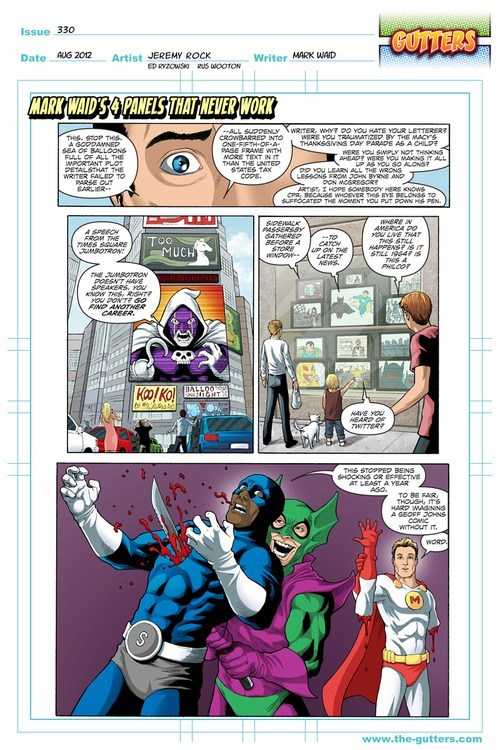 comics,advice,mark waid,stop
