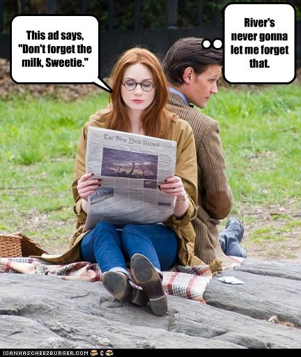 karen gillan,milk,the doctor,message,Matt Smith,sweetie,doctor who,amy pond,newspaper