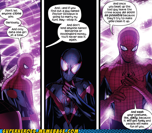 old,peter parker,Spider-Man,new,advice,miles
