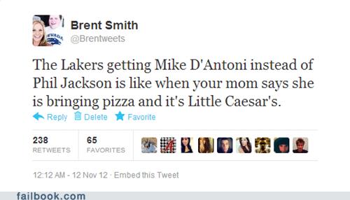 nba Lakers phil jackson Little Caesars los angeles lakers kobe bryant mike brown basketball mike d'antoni - 6759074048
