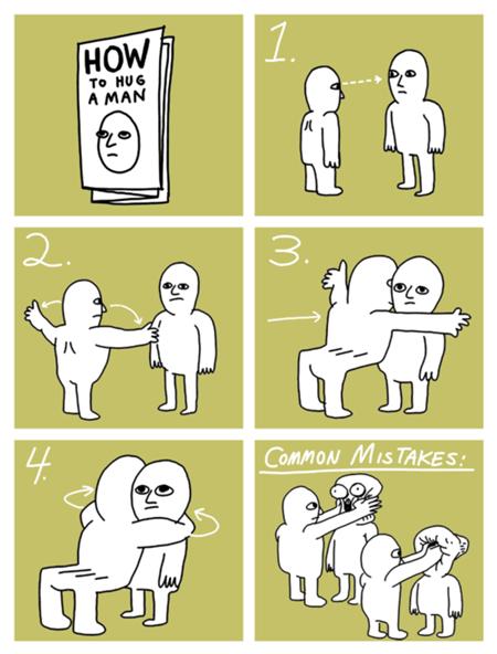 man hugs men instructions - 6759121920