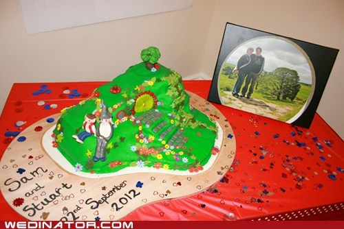 cake Lord of the Rings shire bag end hobbit - 6759367424