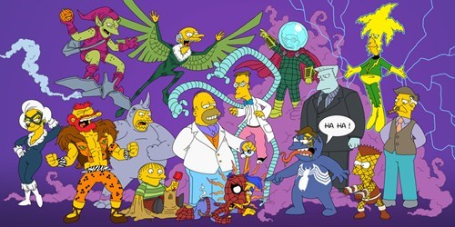Fan Art,cartoons,superheroes,the simpsons