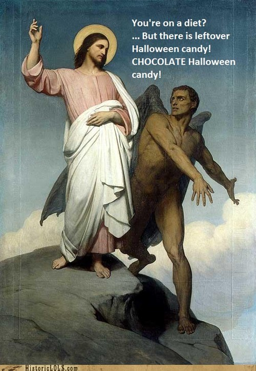 jesus candy diet chocolate leftover restraint