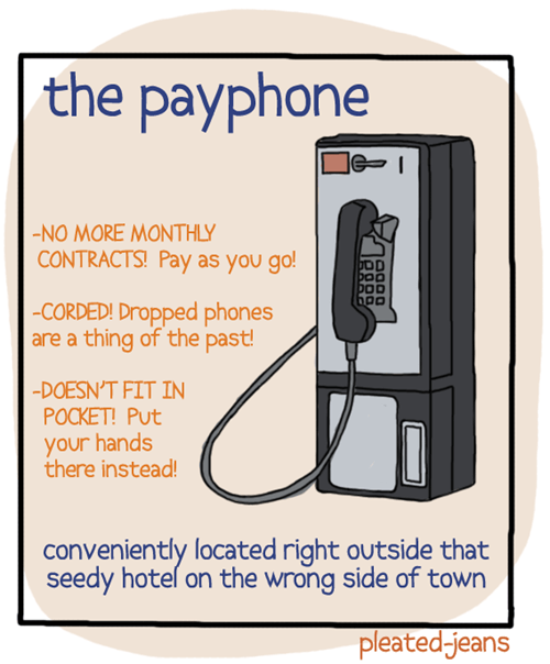 convenient,simple,pleated jeans,payphone