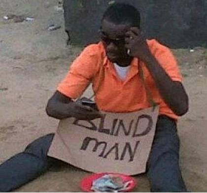 blackberry cures blindness,blind man,blackberry