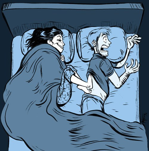 bed etiquette sleeping together why cold feed - 6760065280
