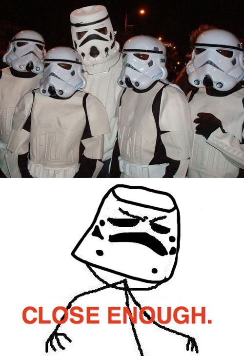 cosplay star wars Close Enough stormtrooper - 6760199424