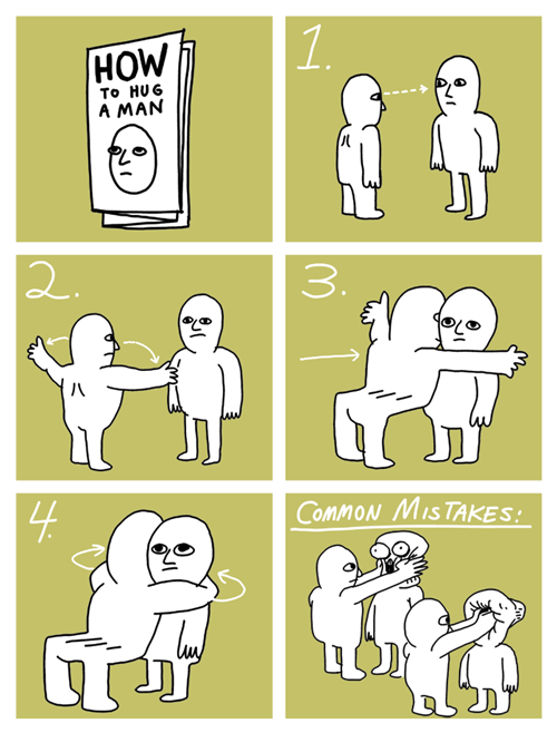 men how to hug hugging common mistakes