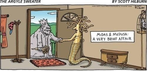 brief affair,midas,medusa,the argyle sweater