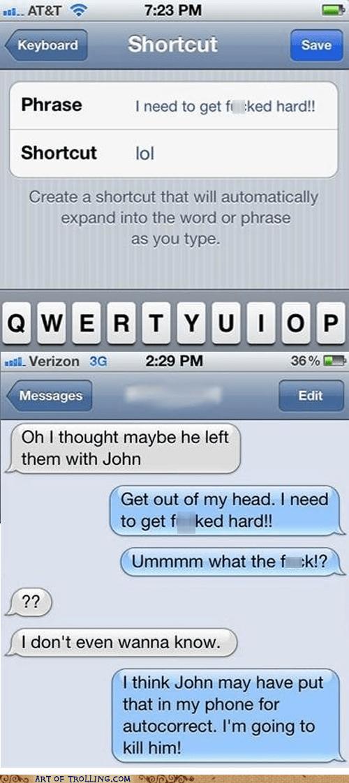 autocorrect shortcut lol sms - 6760385536