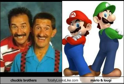 chuckle brothers,TLL,video game,luigi,mario,funny