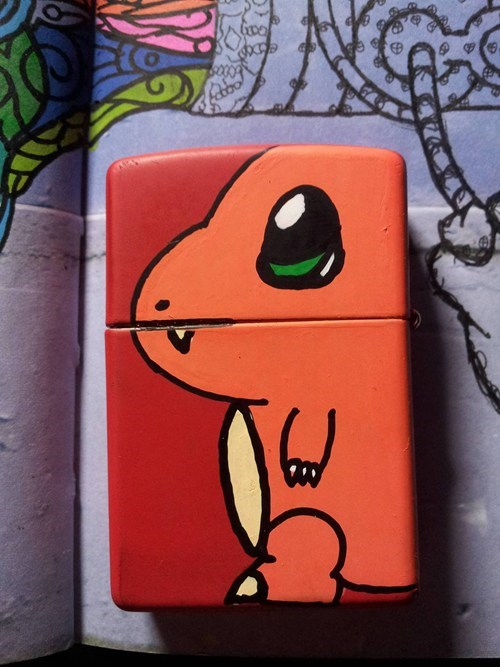 lighter IRL charmander - 6760470272