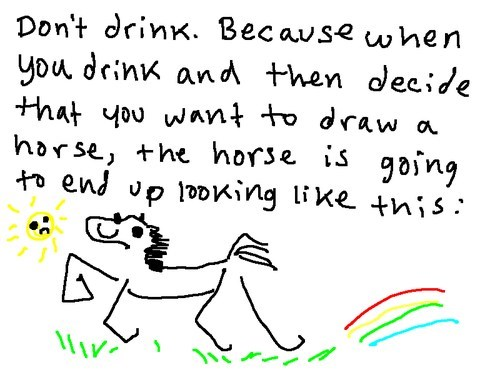 dont-drink,drawing,fate worse than death,horse
