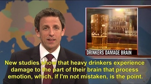 dangers of drinking,weekend update,brain damage,SNL