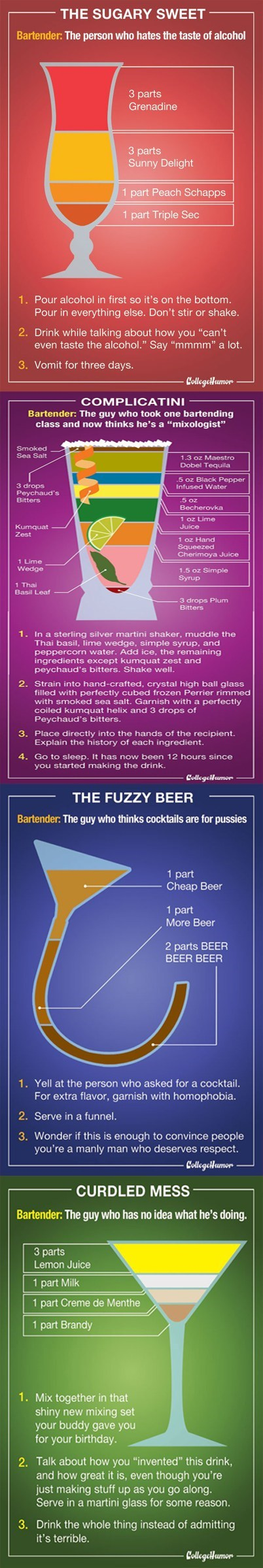 college bartender Early Morning Happy Hour college humor - 6760511744