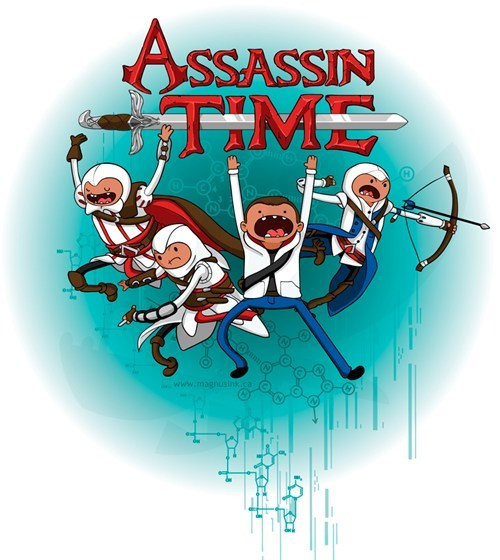 crossover,Fan Art,assassins creed,adventure time