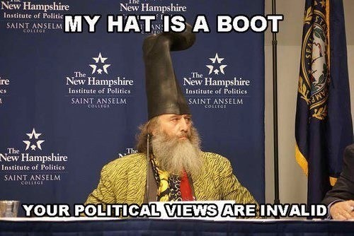 hat,boot,politics