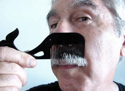 mustache comb design whale cute - 6760659968