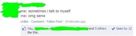 talking to myself facebook - 6760681984