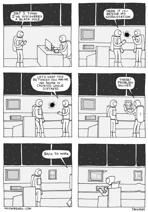 Webcomic,black hole,fired,moonbeard,event horizon,astronaut