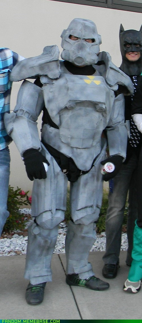 cosplay,fallout,batman,dat batman,video games,paladin