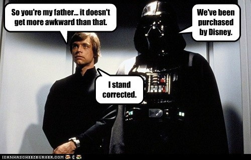 disney Awkward luke skywalker darth vader Father Mark Hamill