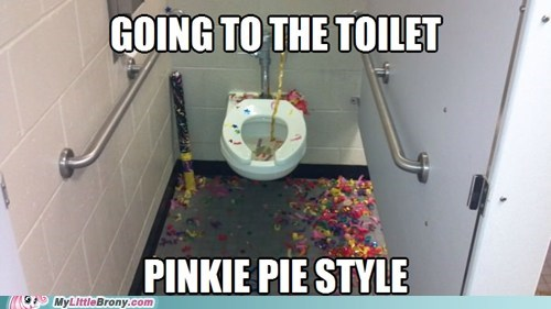 pinkie pie,bathroom,confetti,Party