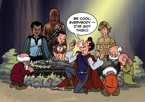 prince charming,star wars,KISS,chewbacca,carbonite,Lando Calrissian,Han Solo,frozen,Princess Leia
