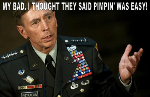 David Petraeus,affair,lyrics,my bad,cia,pimpin-aint-easy,misheard,resign