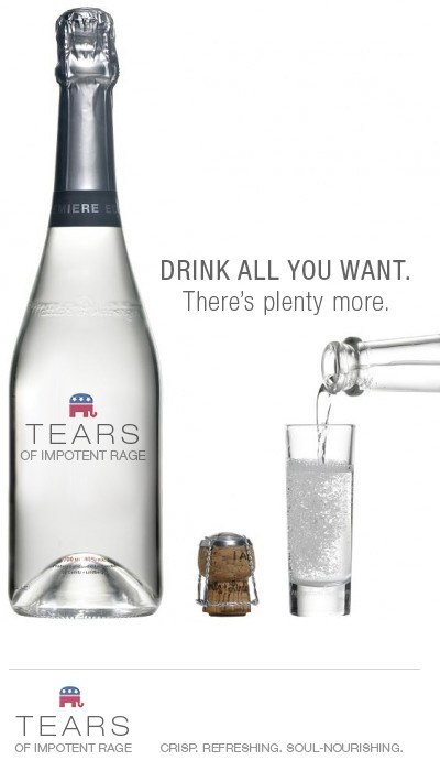 rage,Republicans,campaign,angry,tears,GOP,delicious,money,bottled