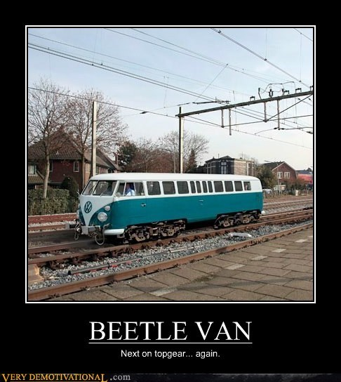 van,beetle,train,top gear