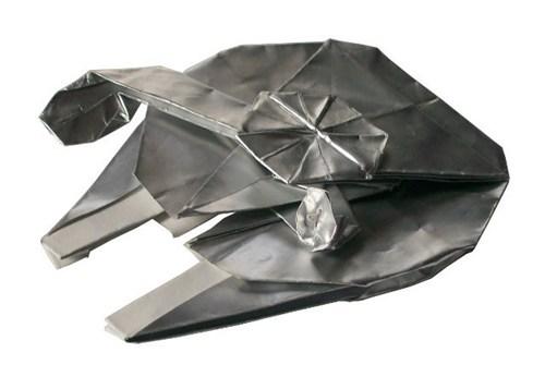 star wars,origami,milennium falcon