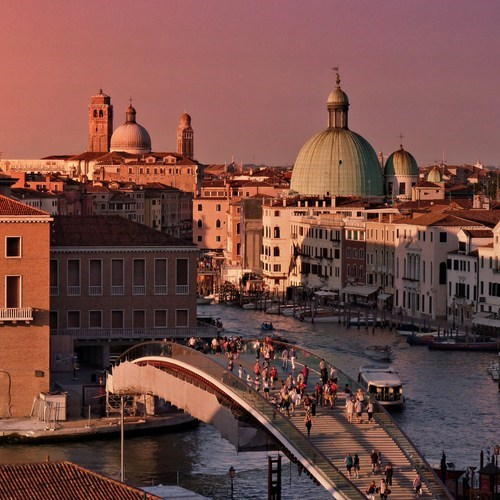 europe cityscape evening venice sunset