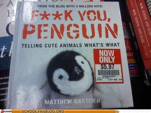 bargain books,eff you penguin,cute animals