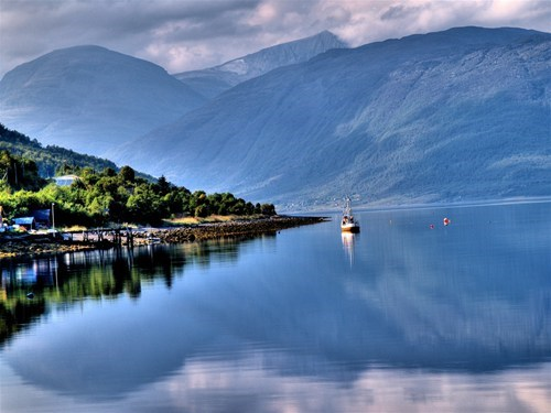 Norway,fishing,serene,lake