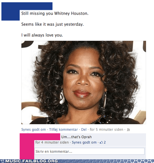 facebook,whitney houston,oprah