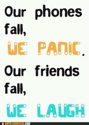 falling,friends,phoney,panic
