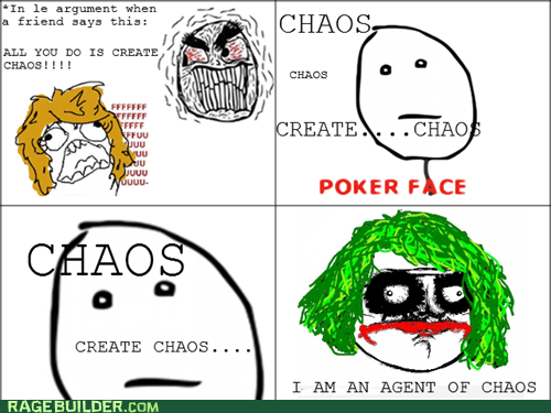 chaos,the joker,poker face,batman