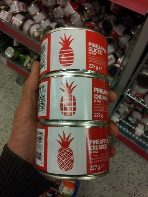 clever design pineapple cans store
