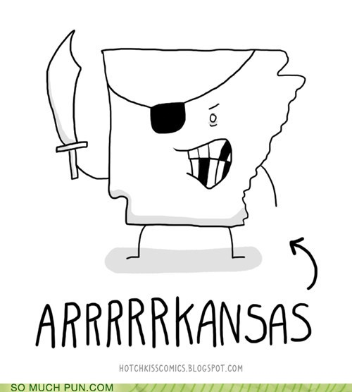 sound effect arrrr arkansas Pirate literalism prefix juxtaposition