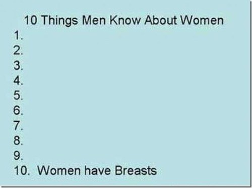 things men know,breasts,men vs women