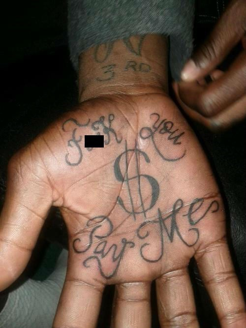 pay me,hand tattoos