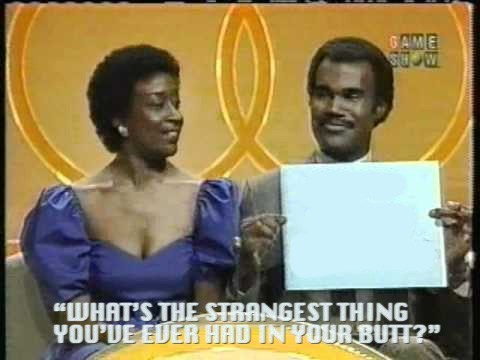 strange things,the newlywed game,in the butt